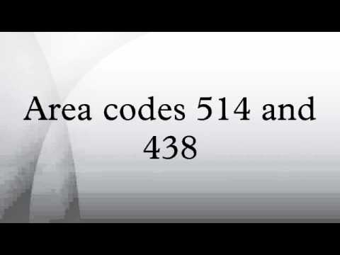 Area codes 514 and 438