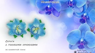 Орхидеи голубые(В этом мастер-классе Вы узнаете, как сделать плавный переход цвета для лепестка орхидеи, как затонировать..., 2016-01-10T08:58:35.000Z)