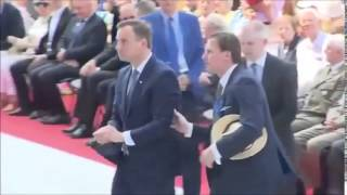 polish President Andrew Duda saves , brings up  holy host during holy mass  in warsow poland ...