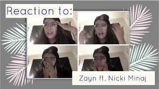 Reaction   Zayn ft. Nicki Minaj No Candle Light