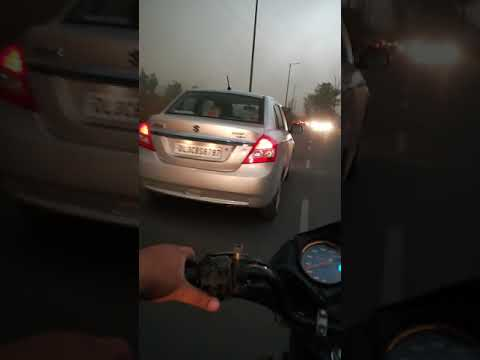 Dust Storm and Strong Wind in Delhi: Driving from Faridabad to Delhi