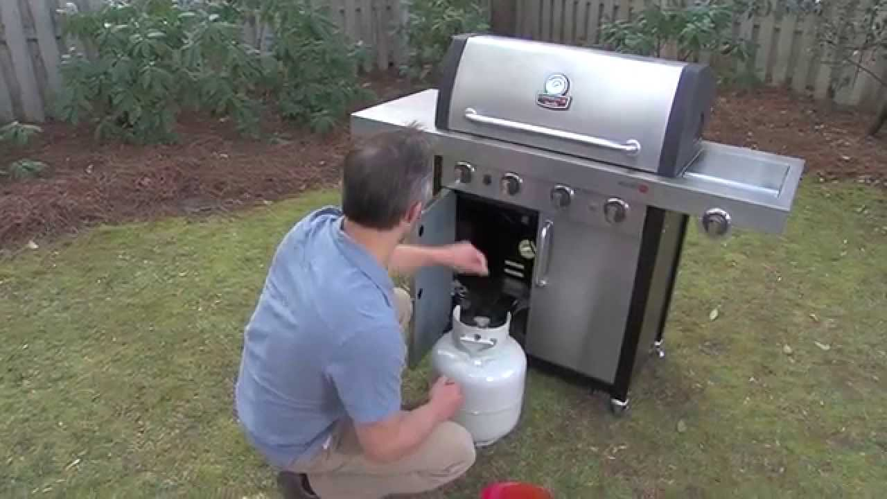 testing your gas grill for a leak youtube. Black Bedroom Furniture Sets. Home Design Ideas