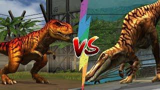 ✔️Tyrannosaurus Rex VS Suchomimus | Jurassic World Công Viên Khủng Long