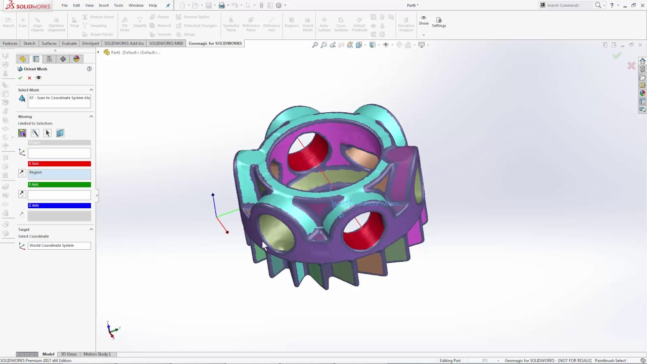 Geomagic for SOLIDWORKS tutorials – Artec Support Center