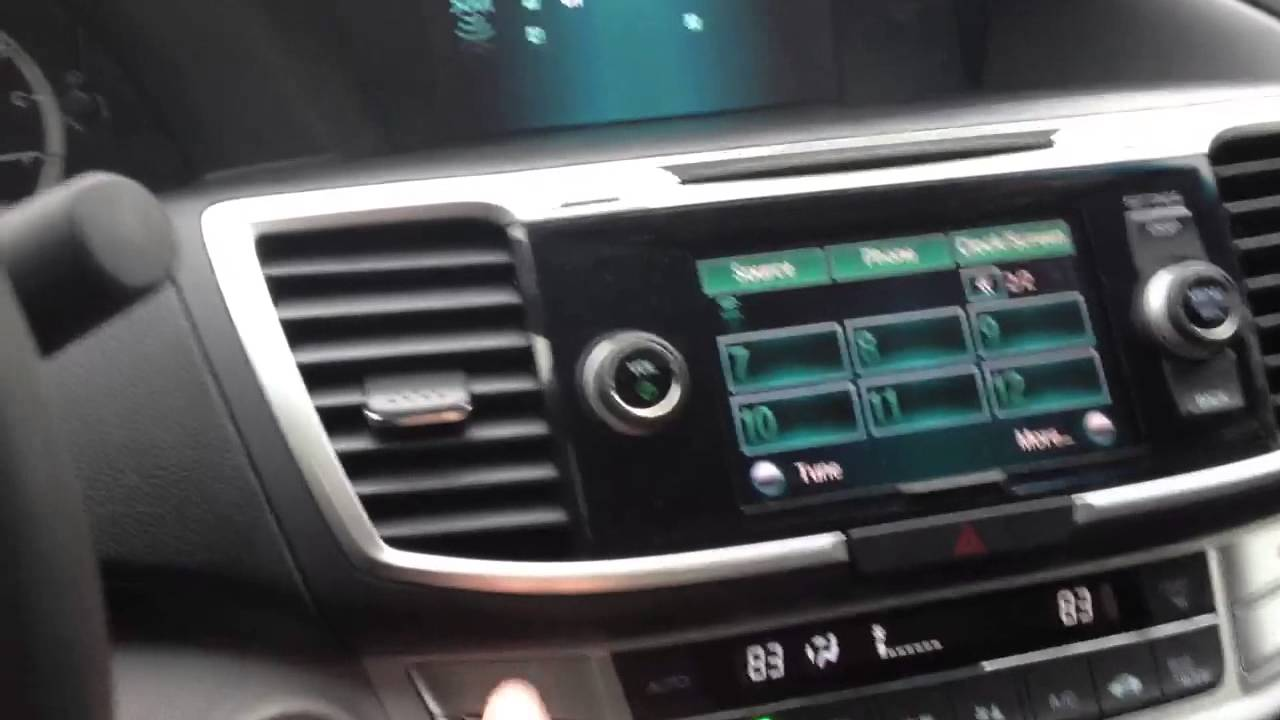 Honda Accord: Operating the XM Radio