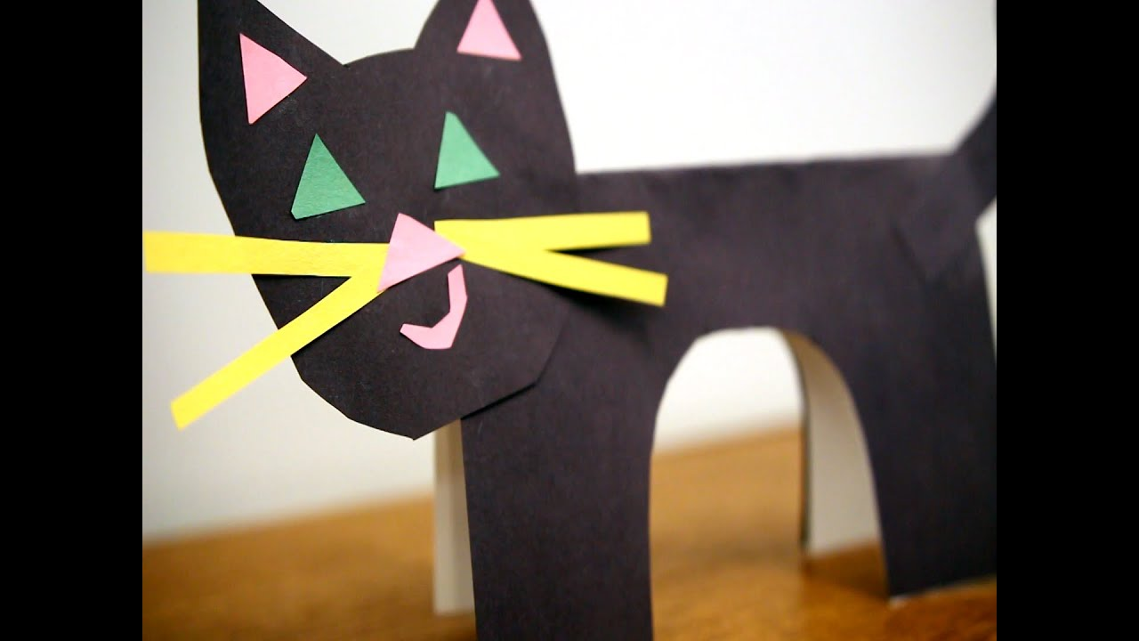 How To Make A Paper Cat Easy Steps For A Cute Black Cat Youtube