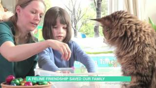 6 year old autistic girl Iris and her cat Thula…wonderful story - 23rd Match 2016