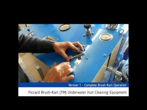 Version 1 - Complete Piccard Brush-Kart (TM) Underwater Hull Cleaning Equipment
