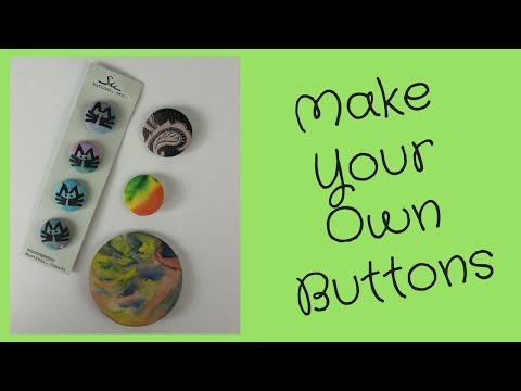 DIY Fabric Buttons without a Badge Machine - YouTube