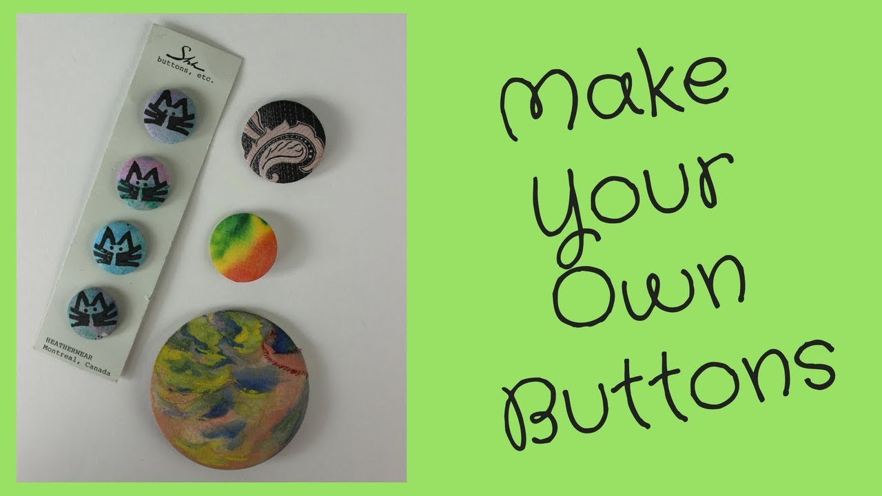 DIY Fabric Buttons without a Badge Machine