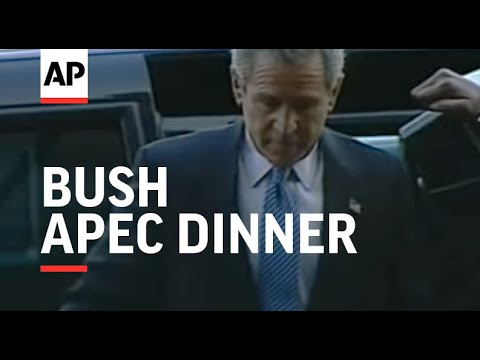 Scuffle as Bush arrives for APEC dinner