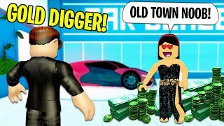 OLD TOWN NOOB EXPOSES GOLD DIGGER! She Was An ODER.. (Roblox)