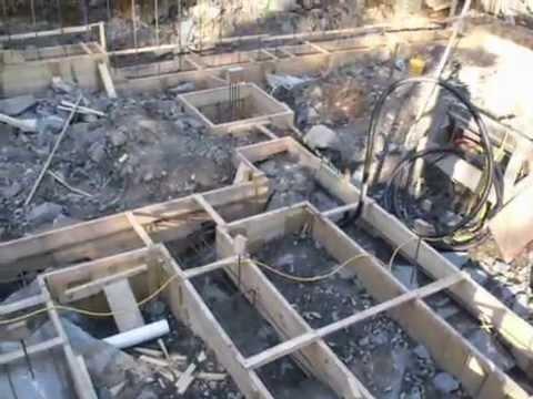 Footings concrete forms on bedrock terrain  YouTube