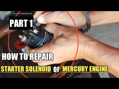 HOW TO REPAIR STARTER SOLENOID OF MERCURY ENGINE | PART 1