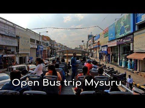 Open bus trip at Mysore Dasara 2018 || Open top bus Mysore