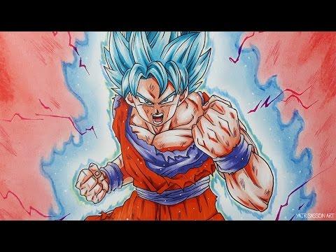 How To Draw Goku SUPER SAIYAN BLUE Kaioken!