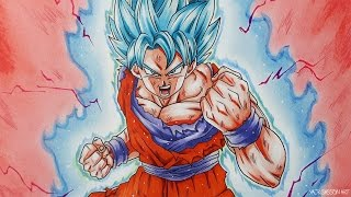 How To Draw Goku SUPER SAIYAN BLUE Kaioken!