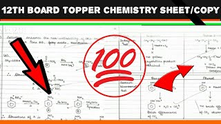 12TH CBSE BOARD TOPPER CHEMISTRY COPY/ANSWER SHEET/BOOKLET. ×------...
