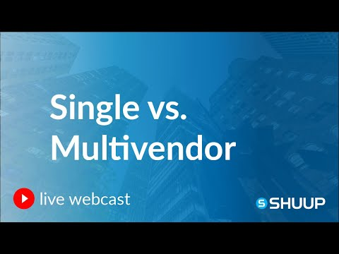 Webinar: Pros and Cons of Single and Multivendor E-commerce Marketplaces