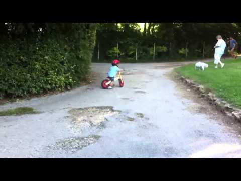 Hoàng Minh đi xe đạp trong rừng