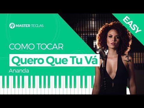 💎 Quero Que Tu Vá Easy - Ananda  Piano Tutorial - Master Teclas 💎