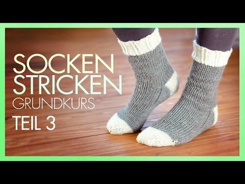 *Socken Stricken* Ferse beenden *TEIL 3 GRUNDKURS*
