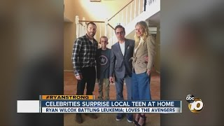 Celebrities surprise local teen battling cancer