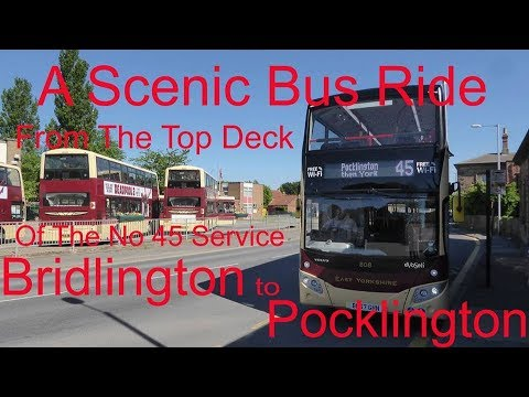 Bridlington to Pocklington on the Bus.