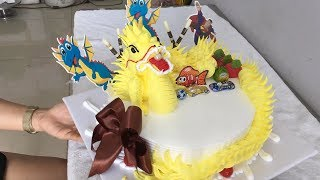 Dragon shaped ice cream cake - Bánh kem hình con rồng