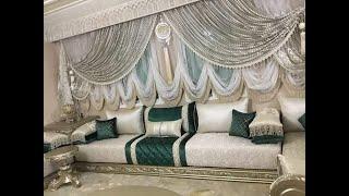 Tissu sejour maroc2018 اتواب طلامط غرفة جلوس قمة في روعة