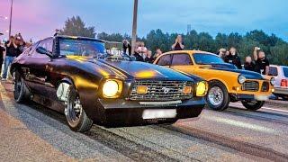 BIG Tire STREET ACTION - NITROUS Mustangs, 1400hp TT Opel + MORE!