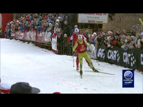 Marit Bjørgen vs. Petter Northug jr. in FIRST EVER Cross Country Sprint!