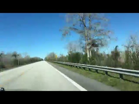 Time lapse Tamiami trail - Everglades city