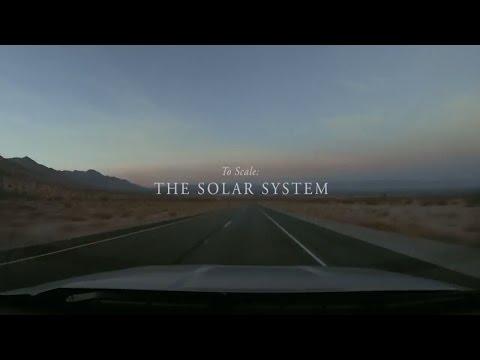 Солнечная система в масштабе, размером в 10 км.