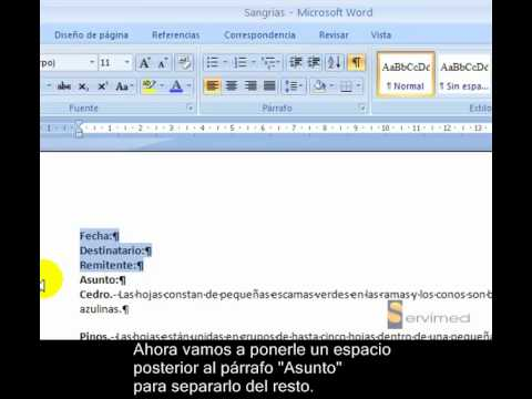 Espaciado entre p rrafos en word 2007 for En word cual es el interlineado