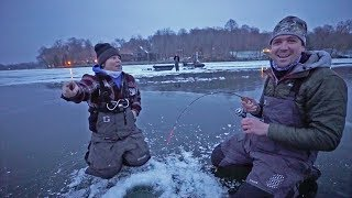 2 V 2 Mille Lacs Ice Fishing Challenge!
