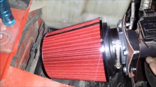 2003 3.0 L V6 ford ranger high air flow filter conversion