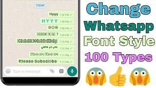 How To Change WhatsApp Font Style Without Root 100% Working Must Watch 🔥🔥