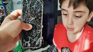 Efe Teyzesinin Cep Telefonunu Kırdı😱 Teyzesi Çok Kızacak!!😨 Eğlenceli  Çocuk Videosu