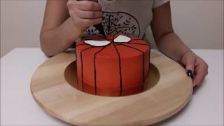 Сборка торта Человек-Паук (Spider-Man) от Kagat Cake