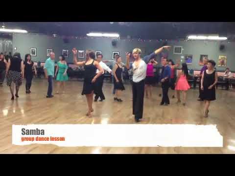 Group dance lesson at Ballroom Dancing LA dance studio in Los Angeles  Samba