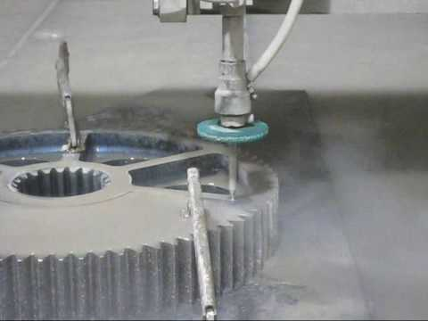 Waterjet Cutting Large Stainless Steel Gears Youtube