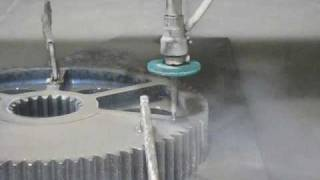 Waterjet Cutting Large Stainless Steel Gears