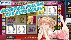 BIG WIN!!! Lucky Ladys Charm bonus round from LIVE STREAM (Casino Games) HUGE WIN