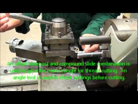 thread cutting on colchester lathe