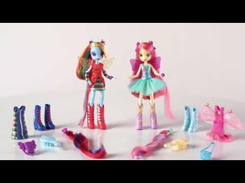 Hasbro: My Little Pony - Equestria Girls -- Rainbow Dash & Fluttershy Deluxe Dolls
