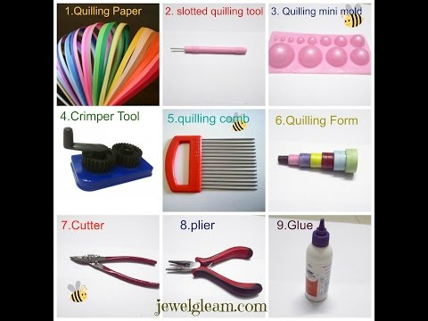 paper quilling Jewellery Tutorial  -basic tools and materials