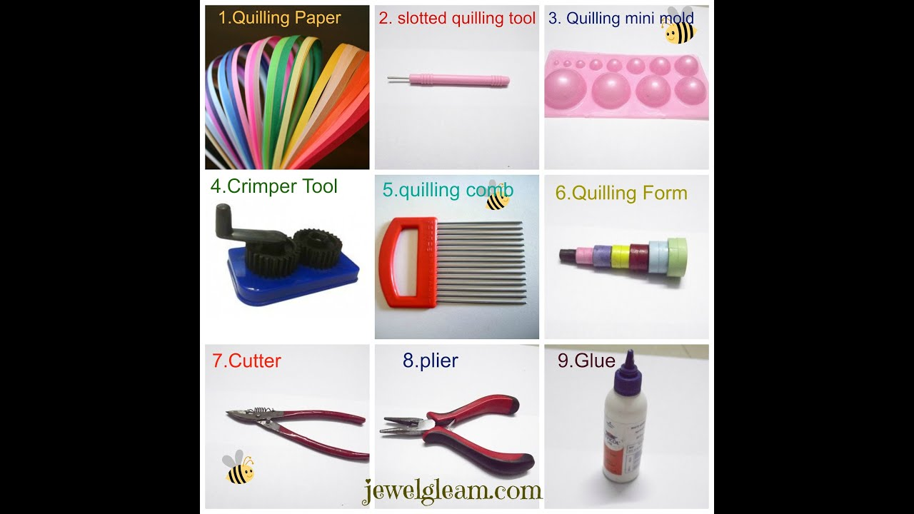 paper quilling jewellery tutorial basic tools and