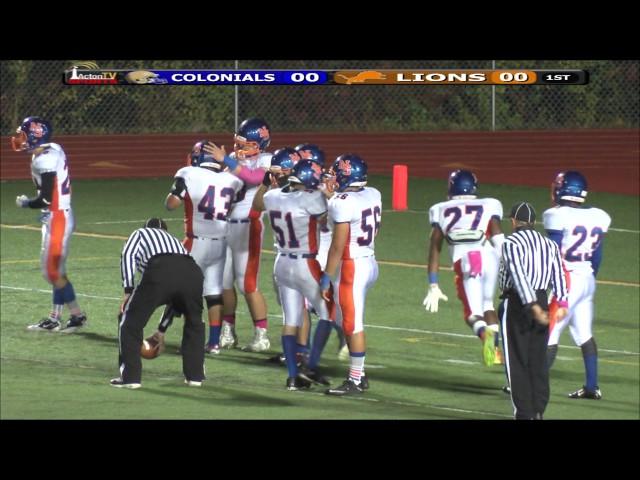 Colonials Football Week 5 vs Newton South 10/9/15
