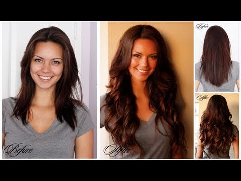 Hair Extensions Transformation Before and After - YouTube